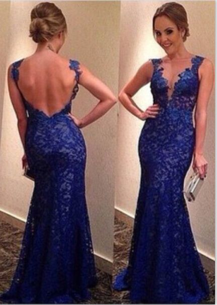 $165--2014 vestido de festa longo lace evening dress see through tulle scoop neck sleeveless sexy long dress party