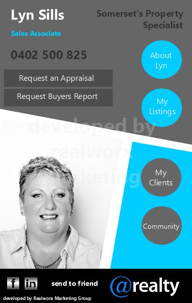 Lyn @realty iCard by Realworx Marketing. Mobile App Design and Development Australia New Zealand USA UK