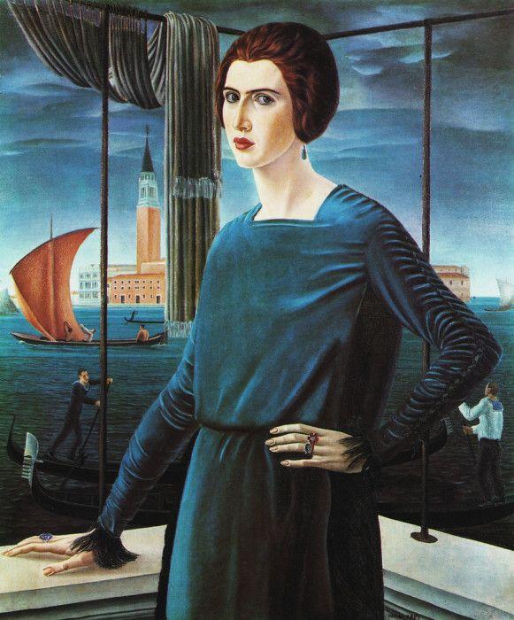 Ubaldo Oppi - The Painter's Wife - 1921