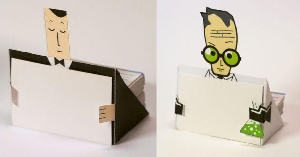 Porte-cartes de visite Paper Toy facile à faire. Le prochain cadeau pour les parents? :)
