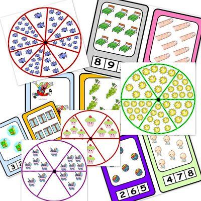 ruedas y cartas para contar