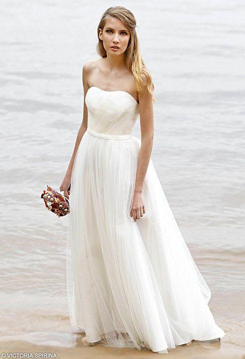 Ethereal wedding dress open shoulders wedding by VICTORIASPIRINA