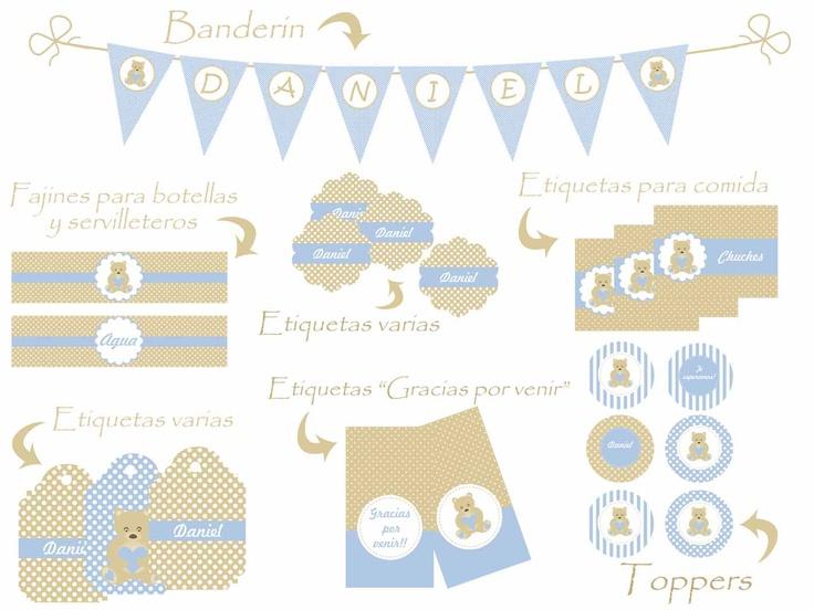 Kit Para decorar Baby Shower, Nacimiento o Bautizo.  NIÑO