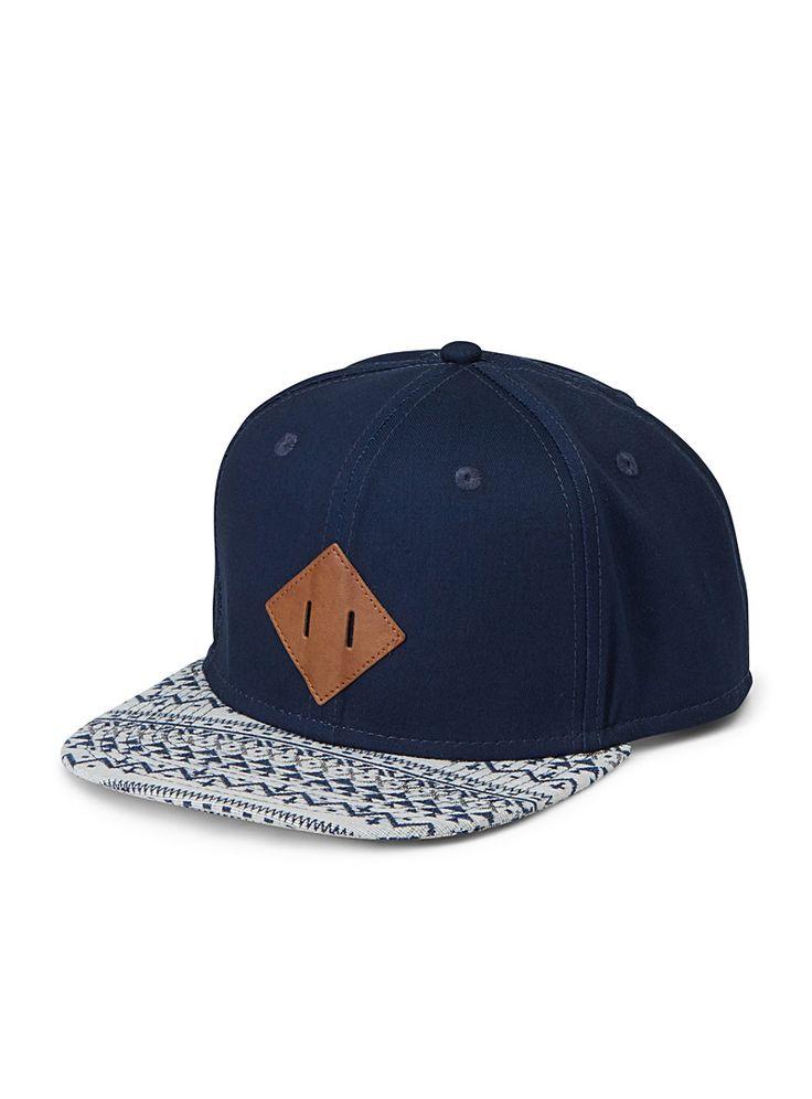 La casquette visière motifs géo - Casquettes - Marine