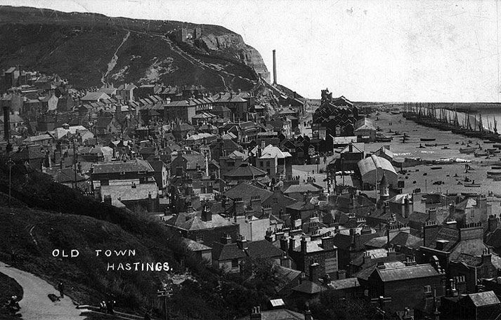 Old Town Hastings view, 1911