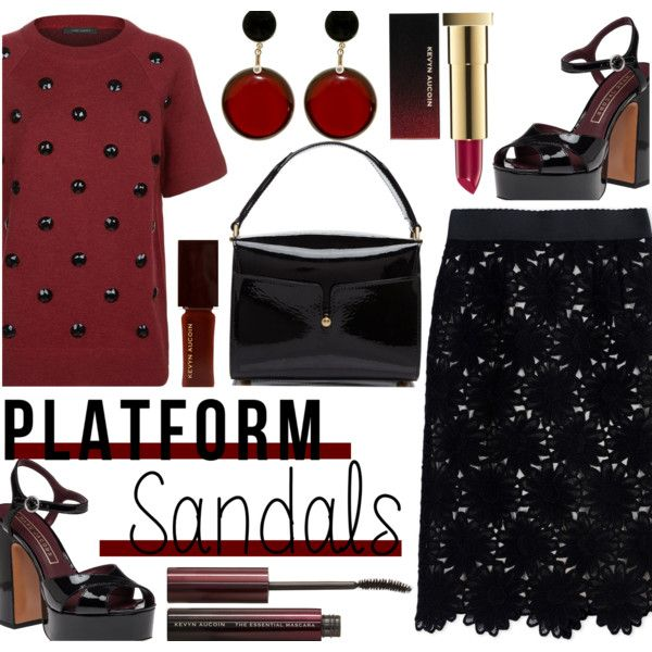 Platform Sandals by rasa-j on Polyvore featuring polyvore, mode, style, Marc Jacobs, Dolce&Gabbana, Marni, Kevyn Aucoin, fashion, clothing and platforms