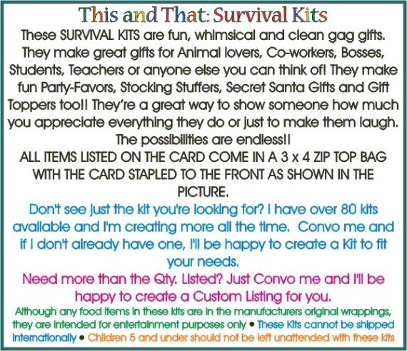 RETIREMENT Survival Kit Becky's This and That by clayfulcreations