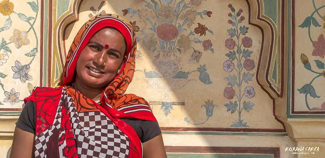 Woman in India, Amer Fort