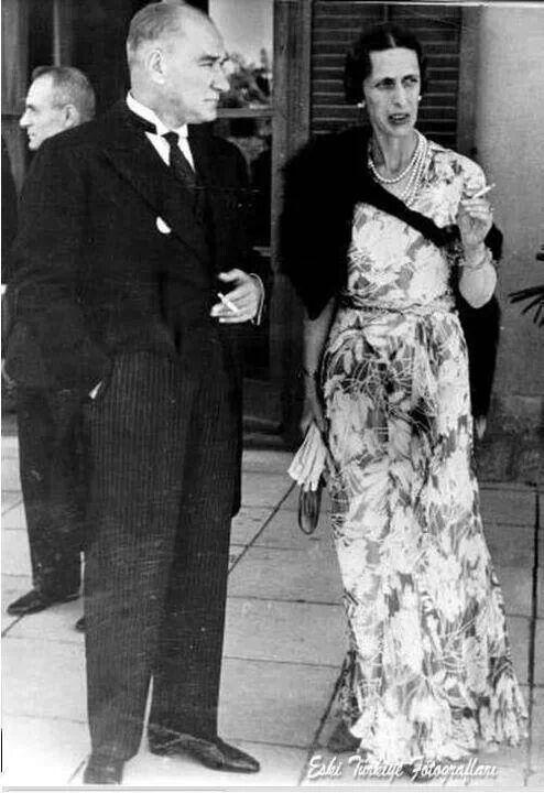 İsviçre Prensesi Louise ve M.K.Atatürk