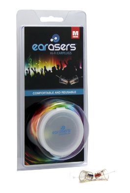 EARasers provide some of the best flat-response hearing protection you could want for musicians, concerts, music festivals, clubs, and other venues.