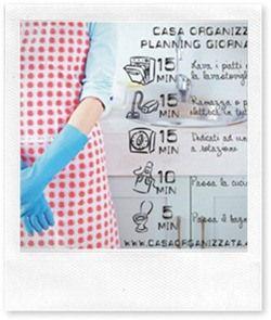 Metodo casa organizzata come organizzarsi con il planning for Planning faccende domestiche