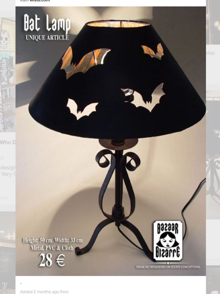 Wonderful lampshade idea, stick with bats, or any other cutout.