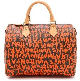 What Goes Around Comes Around Louis Vuitton Sprouse Graffiti Speedy 30 Bag #sale