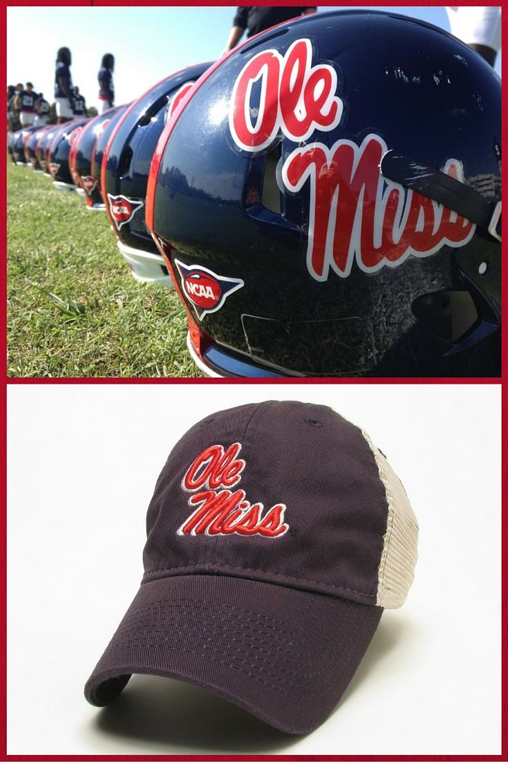 Have your team pride on full display when you finish any look with the Ole Miss Navy Helmet Trucker Hat. Be the number one fan thanks to a raised embroidered logo on the front identical to the logos on the Ole Miss Rebels football helmets. #OleMiss #HottyToddy