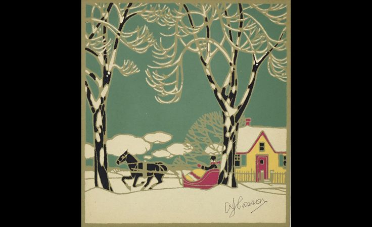 A.J. Casson (1898–1992), Christmas card design for Mr. and Mrs. C.A.G. Matthews, 1927