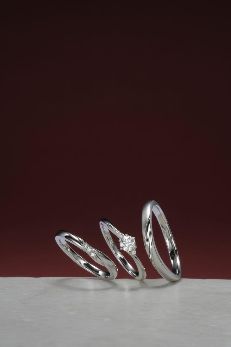 婚約指輪:純情可憐-じゅんじょうかれん- ~素直な君が愛おしい~ / 結婚指輪:いろは ~幸せのいろは~