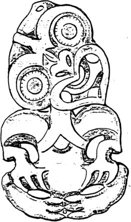 Hei tiki illustrated - hoping to get a tattoo of this next time we go to New Zealand #january2014!