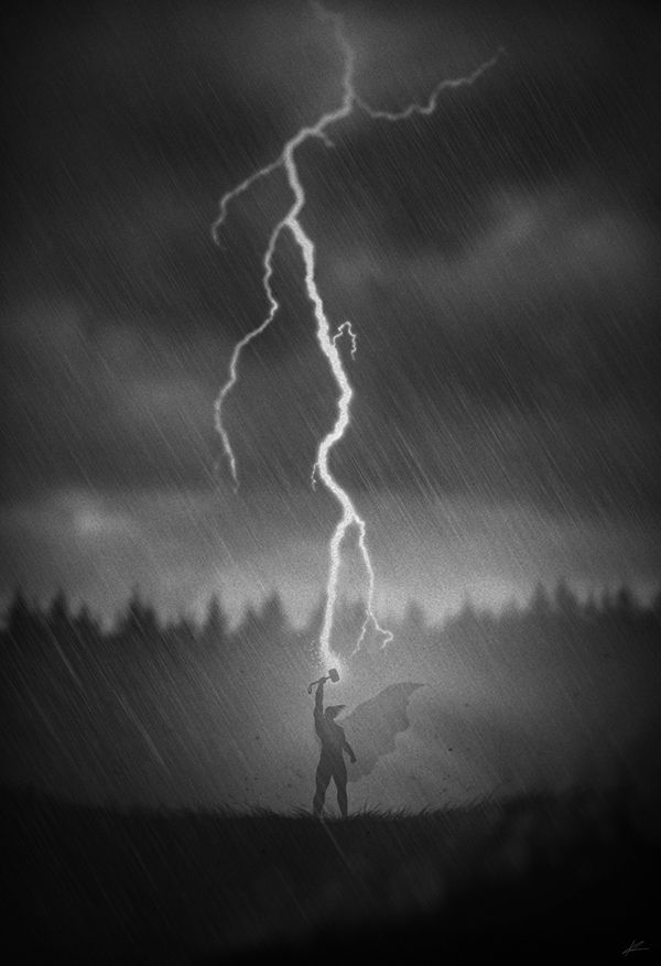 #Superheroes in noir posters #thor #marvel