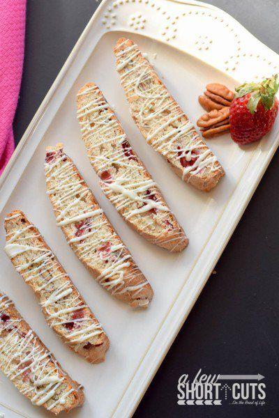 Strawberry Pecan Biscotti — A Few Short Cuts