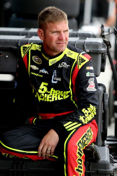 Clint Bowyer Photos Photos - Clint Bowyer, driver of the #15 5-hour Energy Chevrolet, sits in the garage area during practice for the NASCAR Sprint Cup Series Ford EcoBoost 400 at Homestead-Miami Speedway on November 19, 2016 in Homestead, Florida. - Homestead-Miami Speedway - Day 2