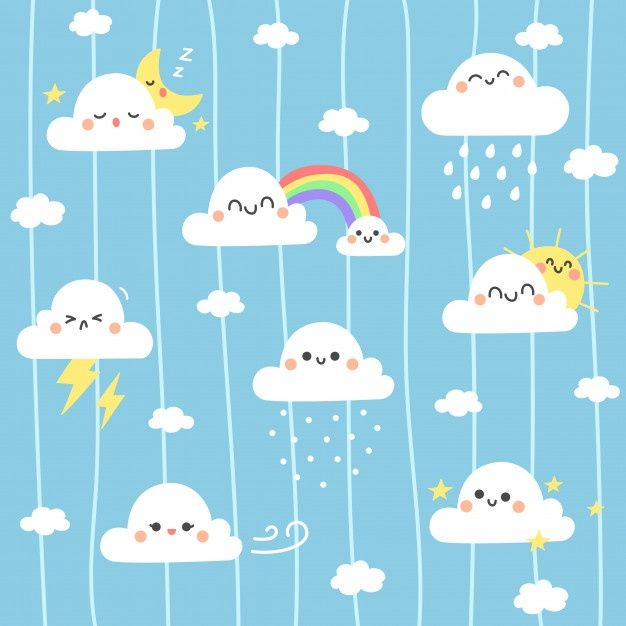 Cute Cloud Illustration Background In 2020 Cloud Illustration Clouds Illustration