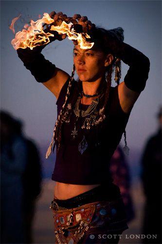 Fire Dancer.  Photo by Scott London