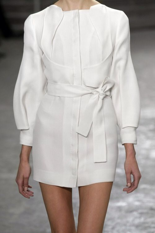 Crisp white shirt dress