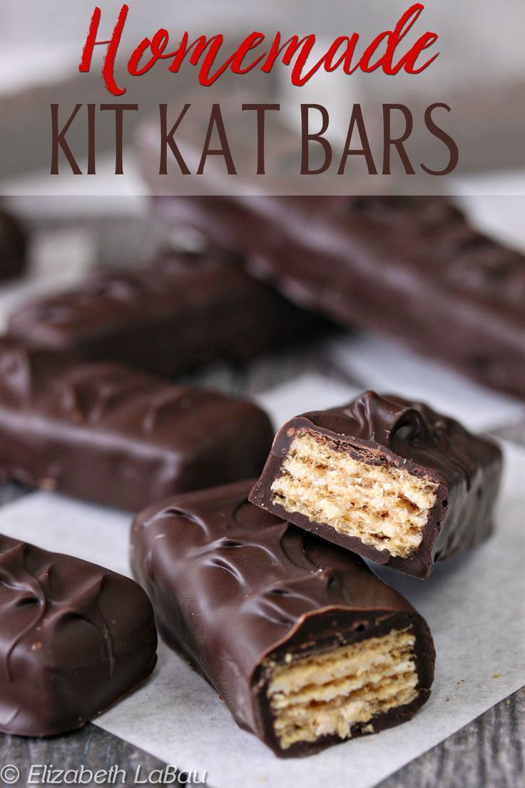 Homemade Kit Kat Bars - only two ingredients! | From candy.about.com