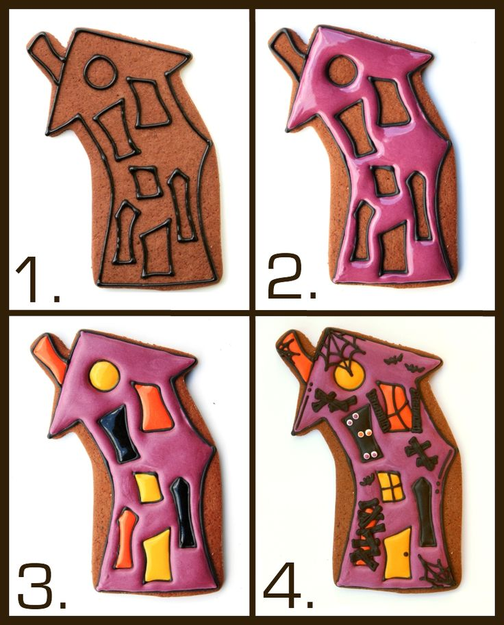how to decorate your very own hauntedhouse halloween cookies by lilaloa check