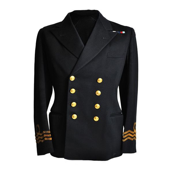 Officer's Uniform Jacket: Royal Canadian Navy Volunteer Reserve... ❤ liked on Polyvore featuring outerwear, jackets, navy jacket and navy blue jacket