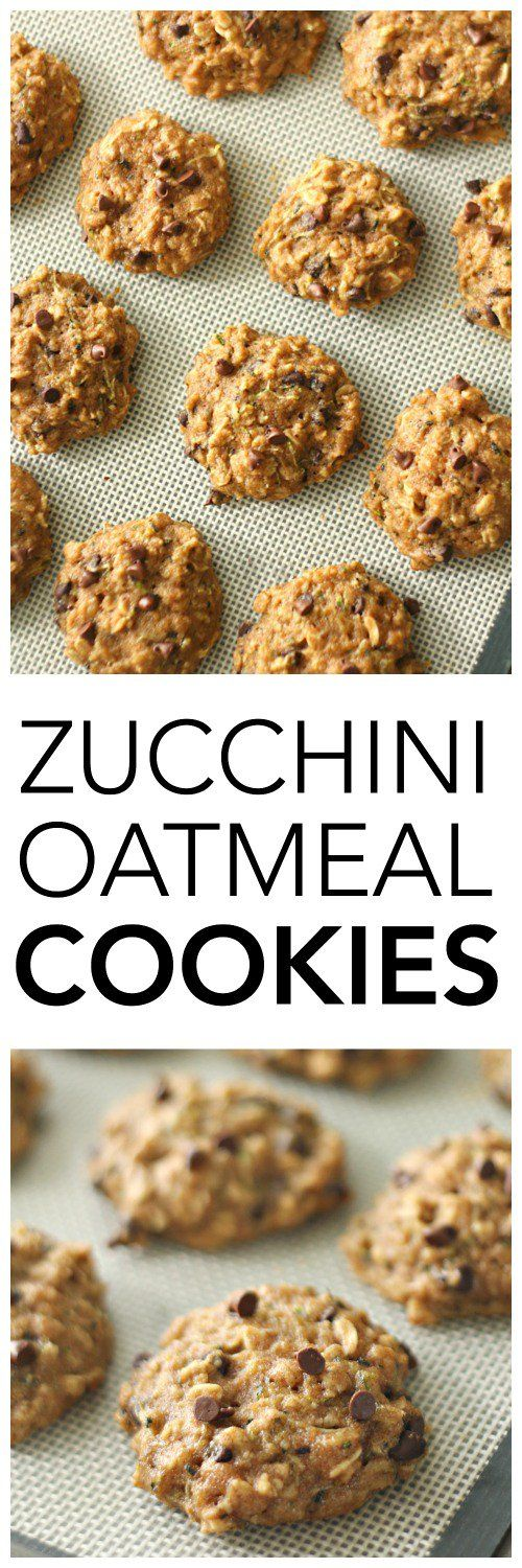 Zucchini Oatmeal Cookies on SixSistersStuff.com | Made with whole wheat flour and no refined sugar these cookies taste so amazing your kids won't even know they're healthy! | Healthy 4th of July Snack