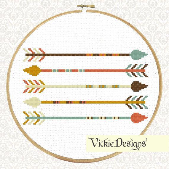 Five Arrows Geometric Minimalist Modern Cross by VickieDesigns, $5.00