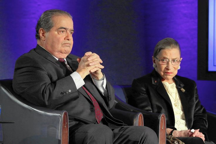 BFFs Ruth Bader Ginsburg and Antonin Scalia agree to disagree. This makes me oddly happy, for some weird reason.