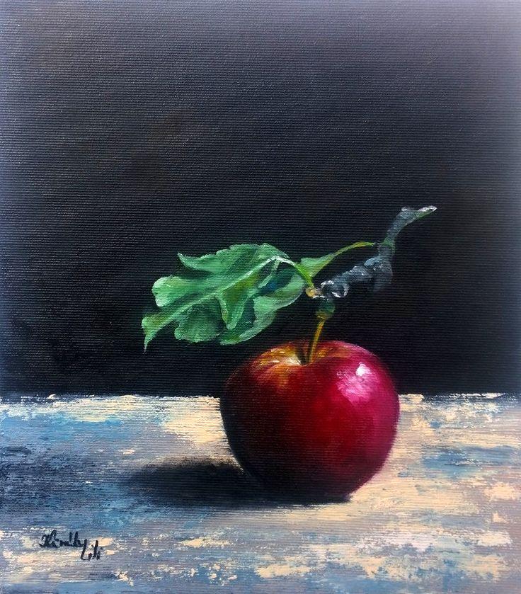 Csak egy alma - 28 x 24 (olaj/kasírozott vászon)
