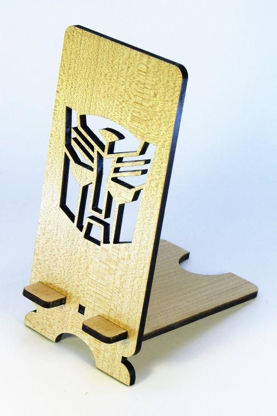 Wooden Desktop Mount Holder For Mobile phone от DecoLazer на Etsy
