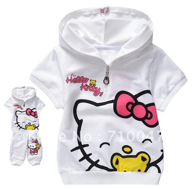 this is a hello kitty baby girl jogging suit it is a cute two piece cute baby clothes. Black Bedroom Furniture Sets. Home Design Ideas