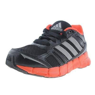 Adidas 5769 Boys Black Little Kid Running Shoes Athletic 10.5 Medium (D) BHFO