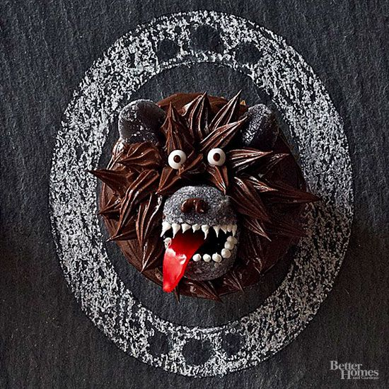 Guests will howl with delight when they see these spooky cupcakes.