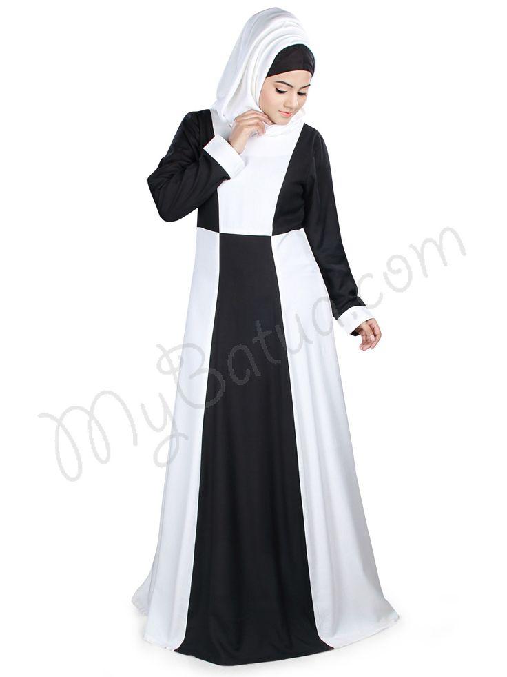 Black and white trendy Abaya