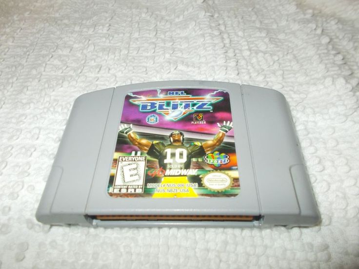 Nintendo 64 N64 NFL Blitz Video Game Cartridge Authentic Tested #Nintendo
