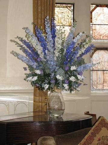 Delphinium wedding flowers http://www.theweddingcommunity.com/210/Expert-Advice/Article/Top-5-Blue-Wedding-Flowers+
