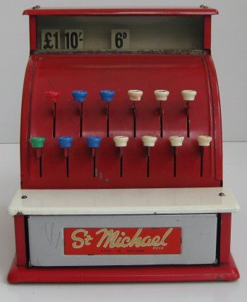 1960S Toys | TOY CASH REGISTER (MARKS & SPENCER - ST. MICHAEL) - VINTAGE TOYS ...