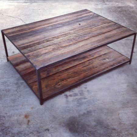 Los angeles coffee table reclaimed wood 400 http for Reclaimed hardwood flooring los angeles