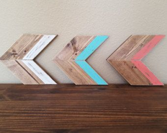 Wood arrows Gallery wall arrows rustic wood by KatandCoCrafts