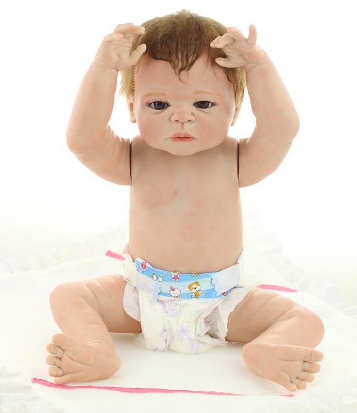 23 polegadas Boneca Da Vida Real com Kits de Silicone Realista Bebê Reborn Brinquedos Presentes para Crianças Coleção Mulheres À Prova D' Água em Bonecas de Brinquedos Hobbies & no AliExpress.com   Alibaba Group