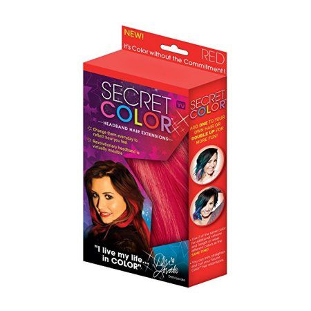 Allstar Products Group Secret Color Hair Extensions, Red, 0.21 Pound (Pack of 12)
