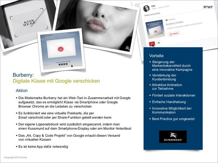 #Burberry: Digitale Küsse mit #Google verschicken