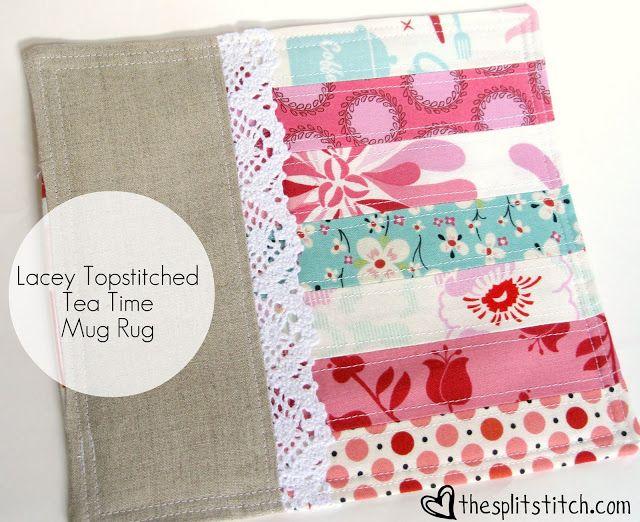 the split stitch: Tea Time Mug Rug Pattern ... Available Now!