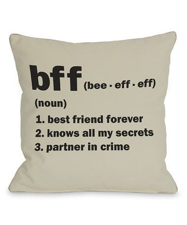 'BFF' Pillow - Set of Two #zulily #zulilyfinds