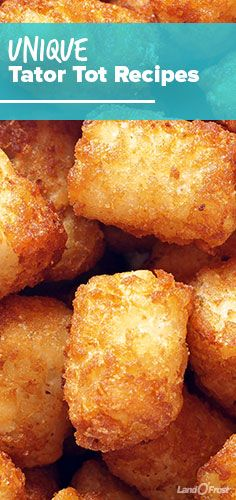 No kid can resist tater tots, so turn them into dinner with these 7 unique tater tot recipes, including tater tot pie, tater tot pizza, tater tot burgers and tater tot nachos (aka totchos!).